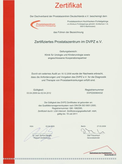 DVPZ-Zertifikat